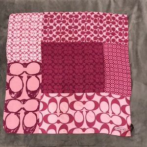 Coach Silk Scarf Pink & Berry